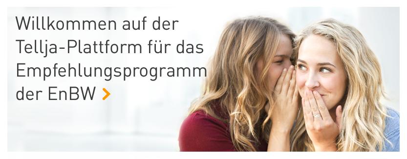 Willkommen auf der Tellja-Plattform für das Empfehlungsprogramm der EnBW
